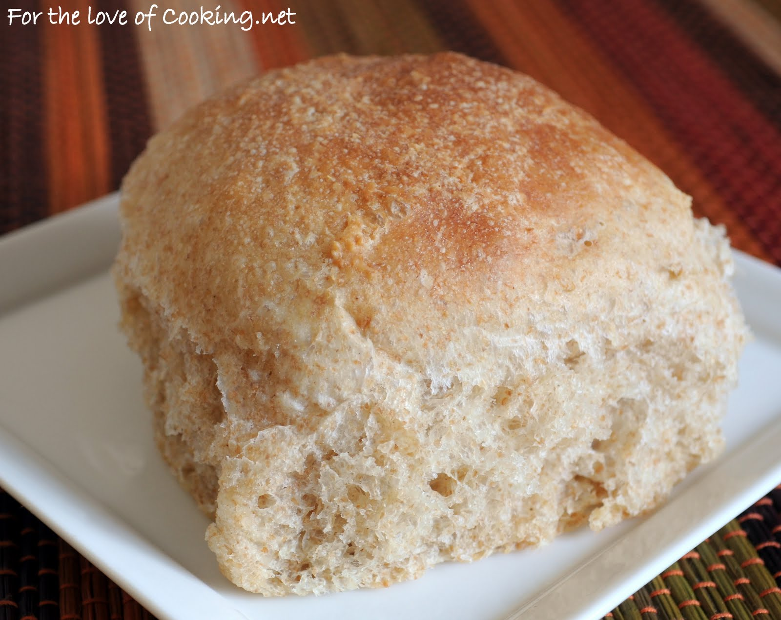 Whole Wheat Dinner Rolls | For the Love of Cooking
