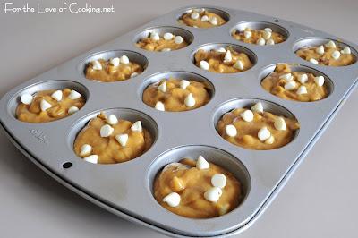 White Chocolate and Pecan Pumpkin Muffins