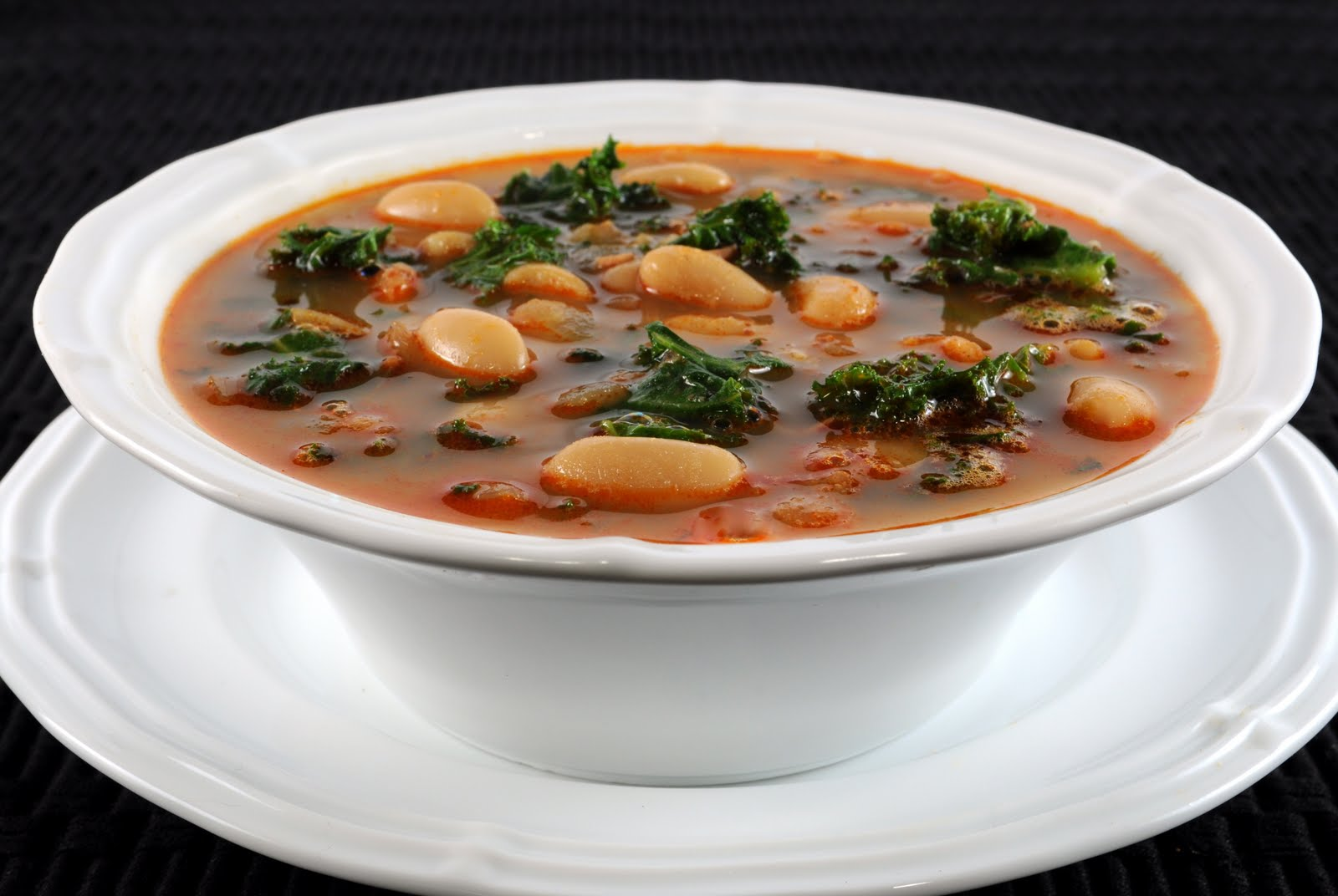 White Bean Soup with Chorizo and Kale | For the Love of Cooking