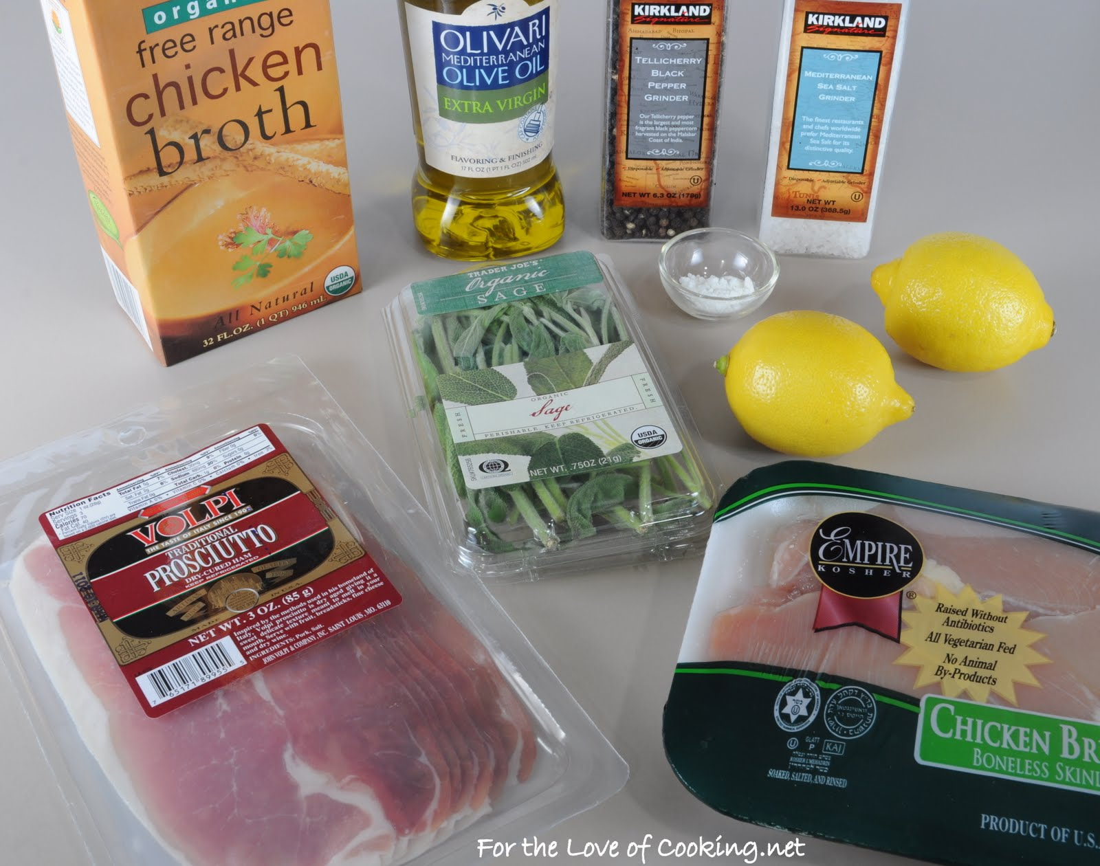 Lemony Chicken Saltimbocca | For the Love of Cooking
