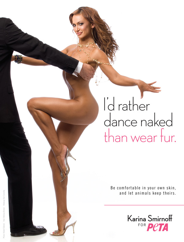 karina smirnoff peta ad. seen the PETA ads anywhere