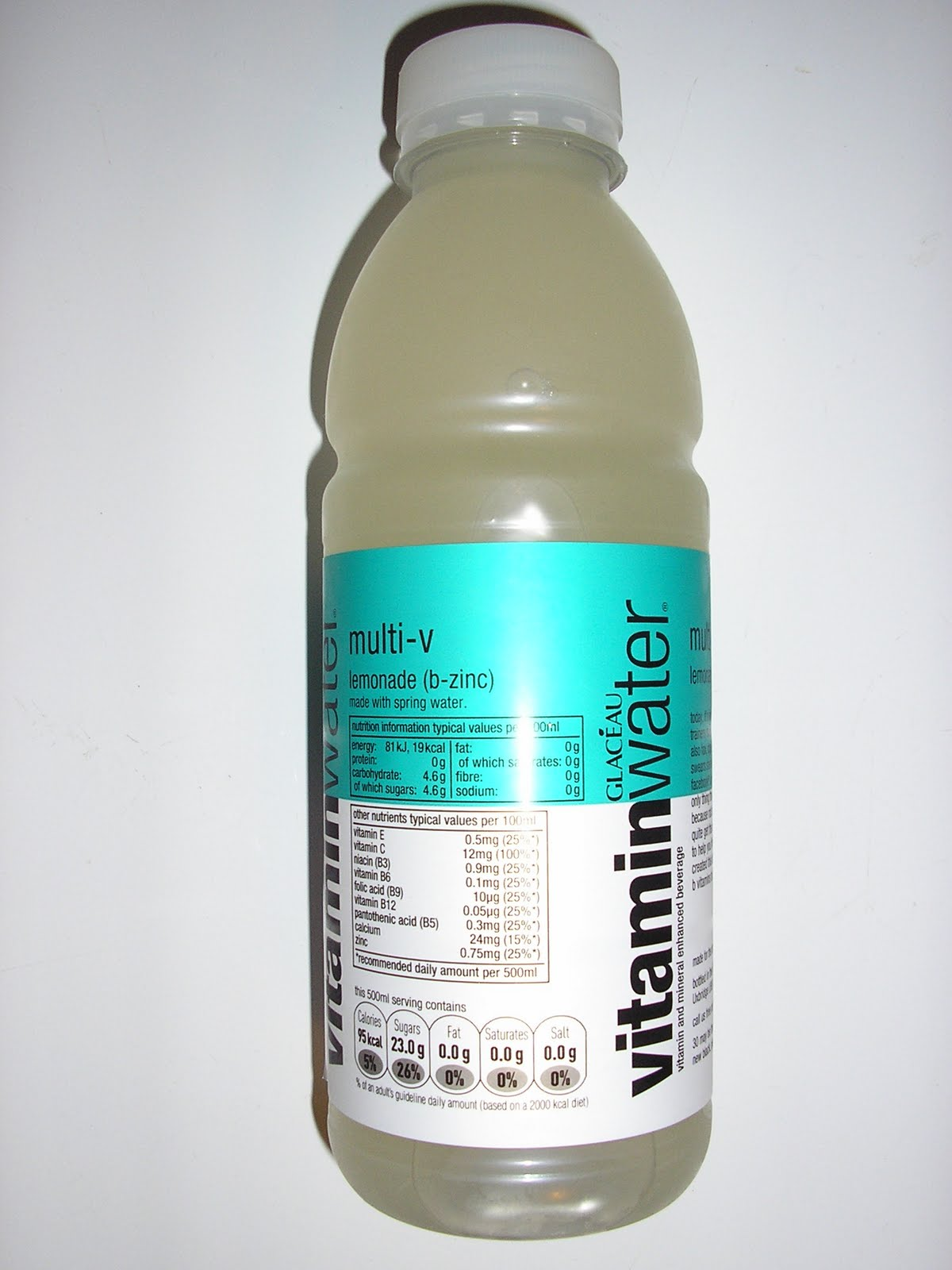 Foodstuff Finds Vitamin Water Lemonade