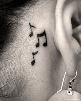 Musical notes tattoo by *playthis on deviantART