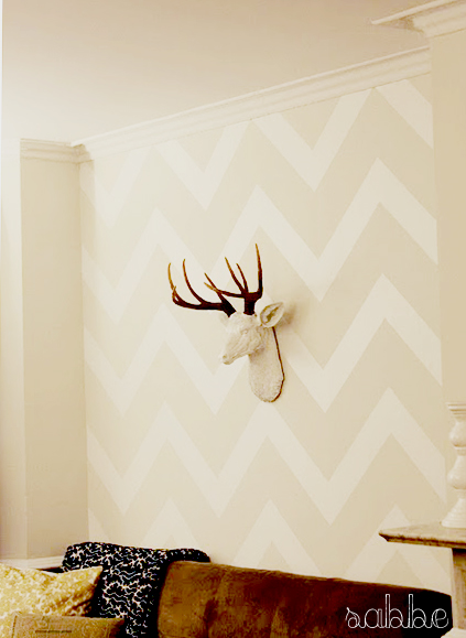 modern jane: DIY: The Wall Stencil Reinvented