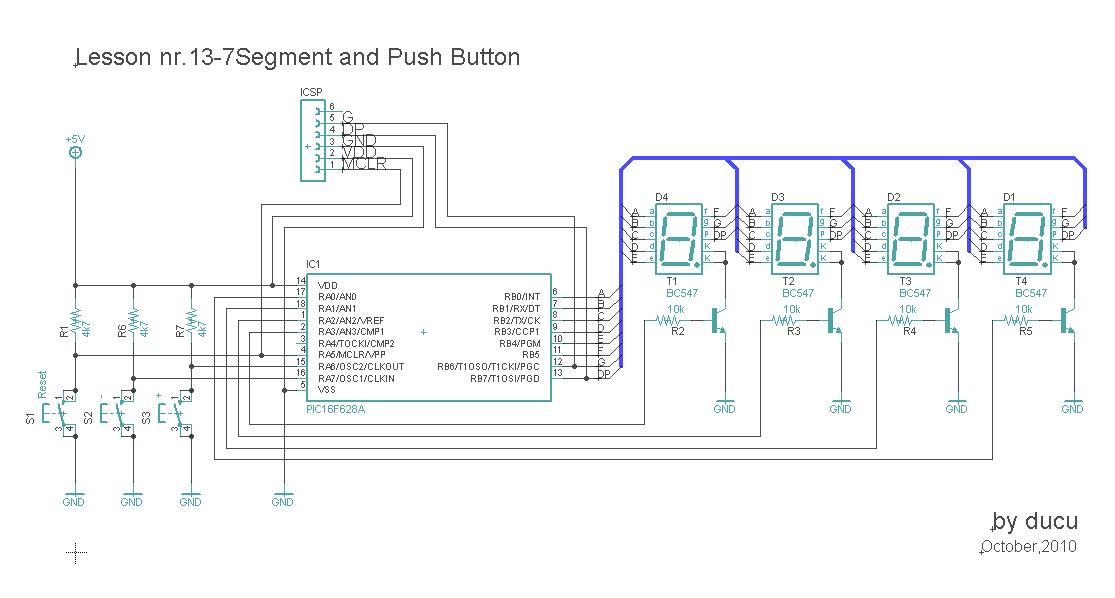 electronic experiments lesson nr 13 7segment and push button rh electronicexperiments blogspot com