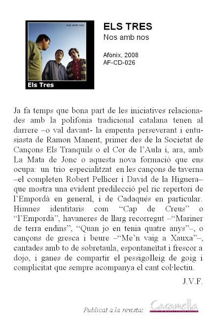 Publicació a la revista CARAMELLA