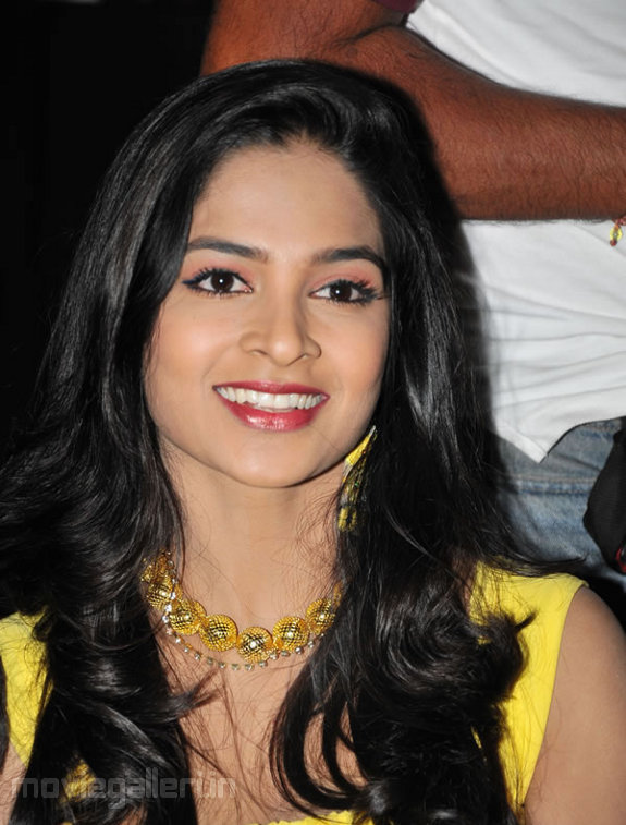 Madhumitha In Yellow Dress at Event
