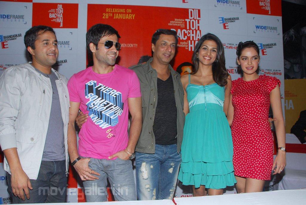 , Dil Toh Baccha Hai Ji Press Meet at Cinemax Hyderabad