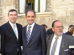 EL PRESIDENT DE LA GENERALITAT FRANCISCO CAMPS FUE PREGONERO DE LA SEMANA SANTA MARINERA EN 2002