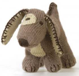 Knitting Patterns For Dogs Toys : Knitted Dog Toy Woof Content in a Cottage