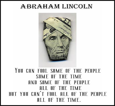 Abraham Lincoln Money Quote . . .