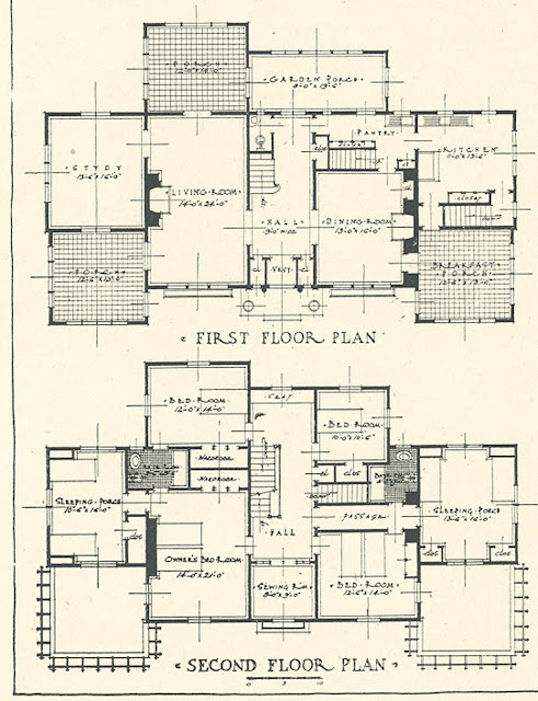 Architectural plans for mr blandings 39 type dream house for Dream house blueprints