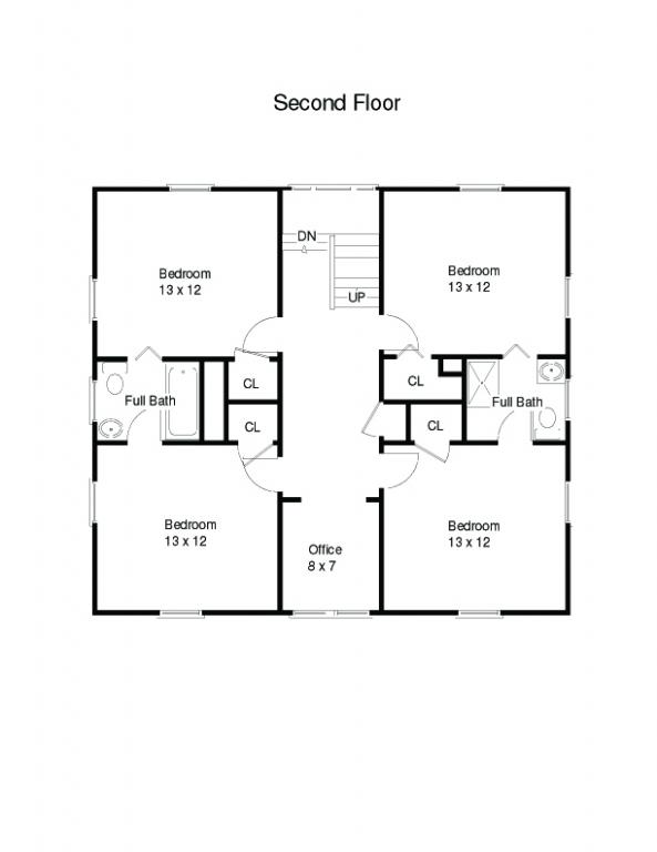 1915 architectural design for the american foursquare Simple house floor plans