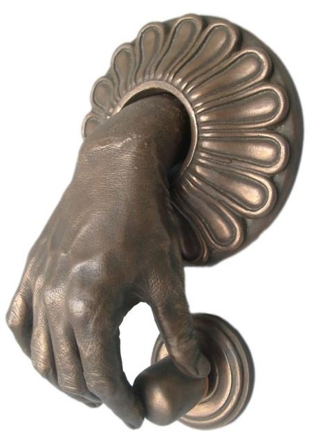 Bronze Hand Door Knocker | Perfect For Halloween