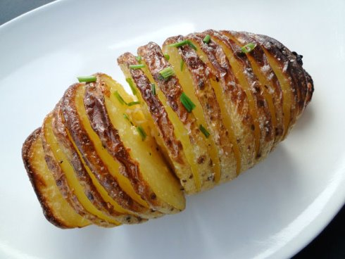 Hasselback Potatoes Olive Oil Baked hasselback potatoes
