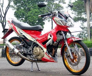 used motor modif Satria FU150 suzuki