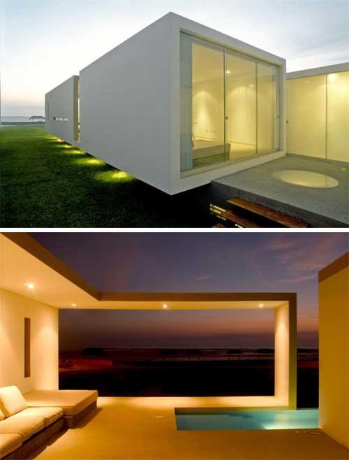 Arquitectura moderna casa de praia moderna las arenas for Casa moderna arquitectura