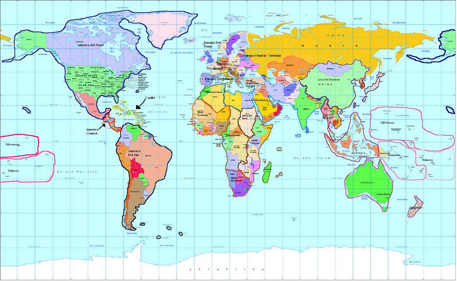 Mapa Planisferio Del Mundo