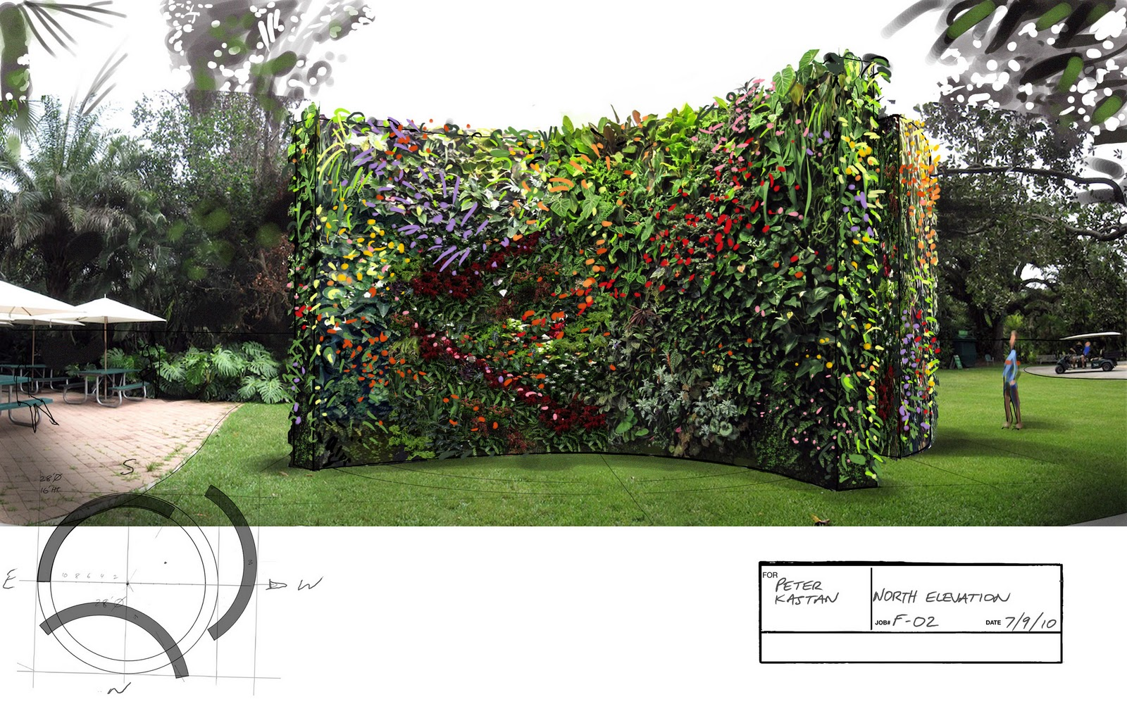 Free Standing Hydroponic Plant Wall Proposal For Park Or