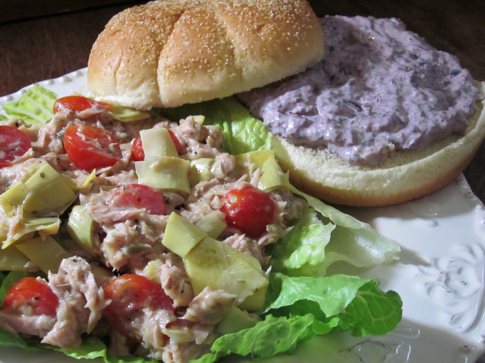 ... Delights: Tuna and Artichoke Salad Sandwiches with Kalamata Olive Mayo