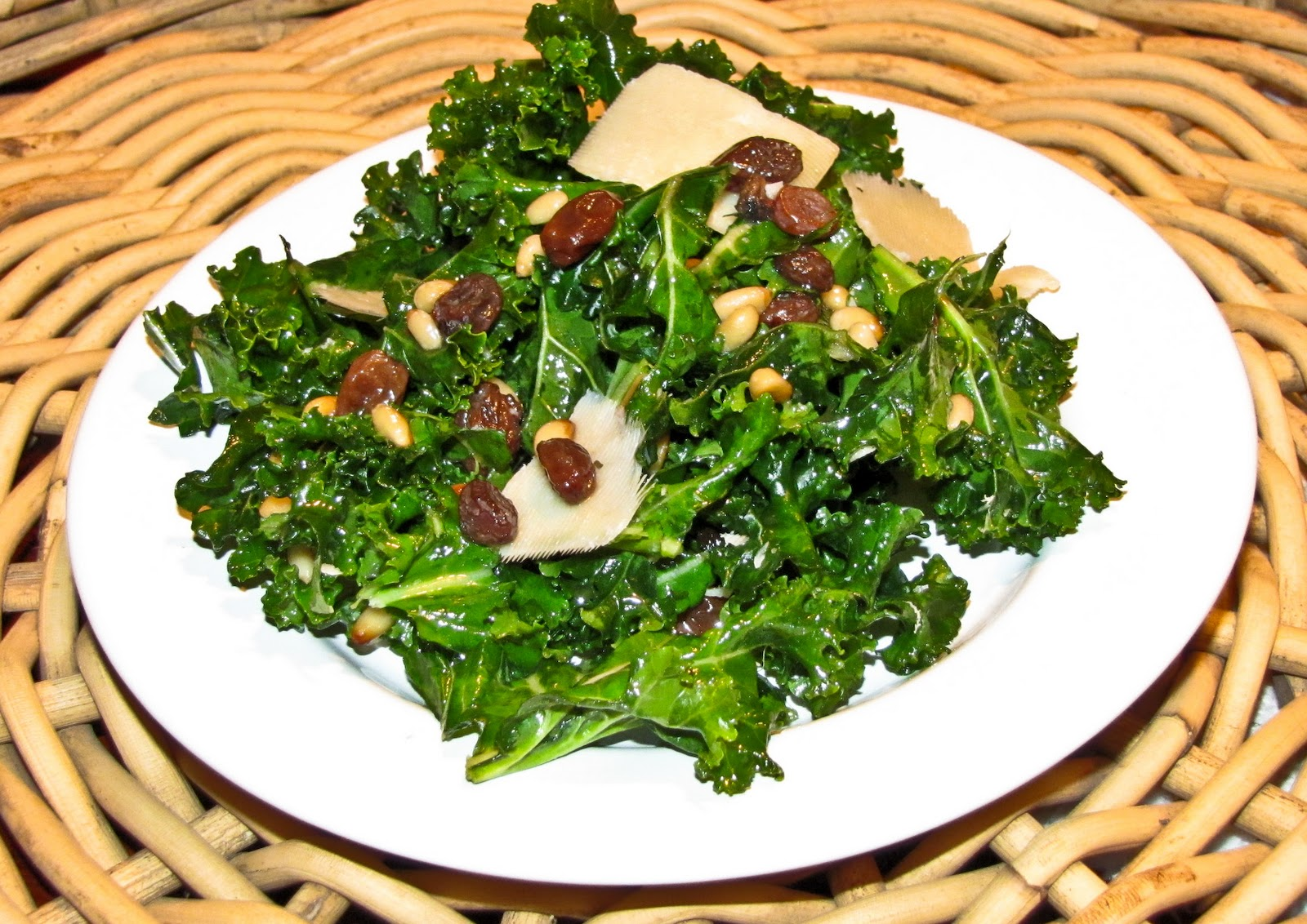 OnTheMove-In the Galley: Kale Salad with Pinenuts, Raisins ...