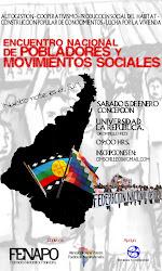 ENCUENTRO NACIONAL  DE  POBLADORES  Y MOVIMIENTOS SOCIALES