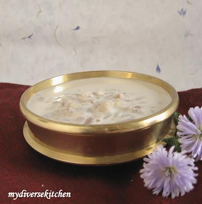 And Savoury Festive Fare  Aval Payasam  Vella Cheedai and Uppu CheedaiPayasam In Glass