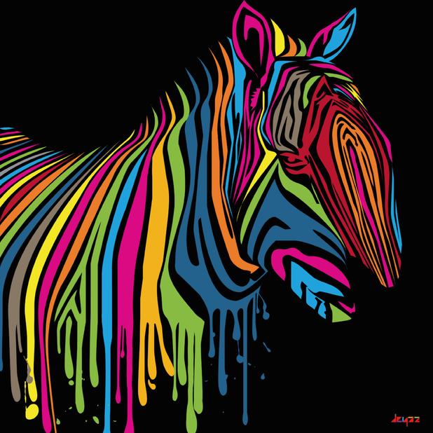 ATS 240 - Graphic Design I - Fall 2010: Pop Art Zebra
