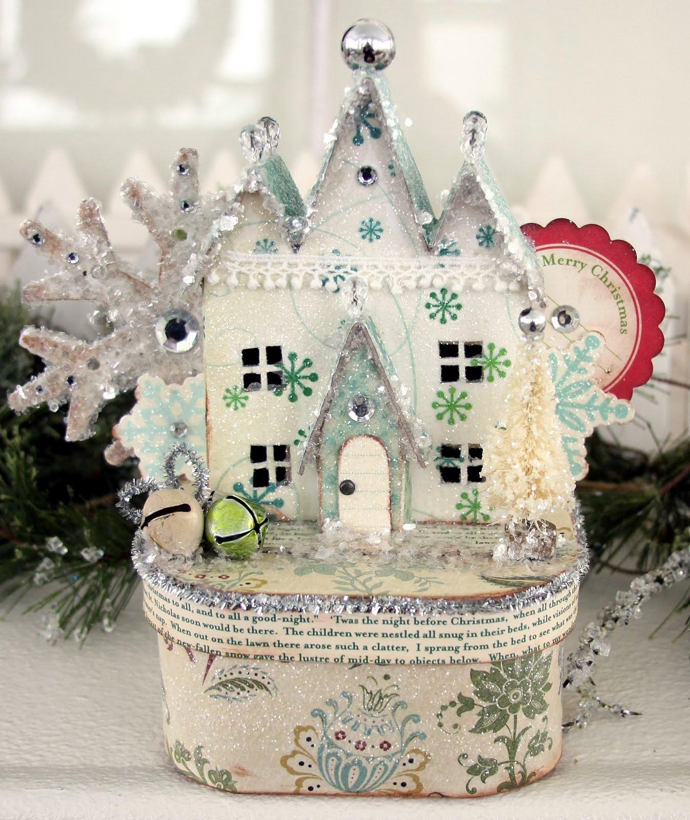 Новогодний домик своими руками мастер класс