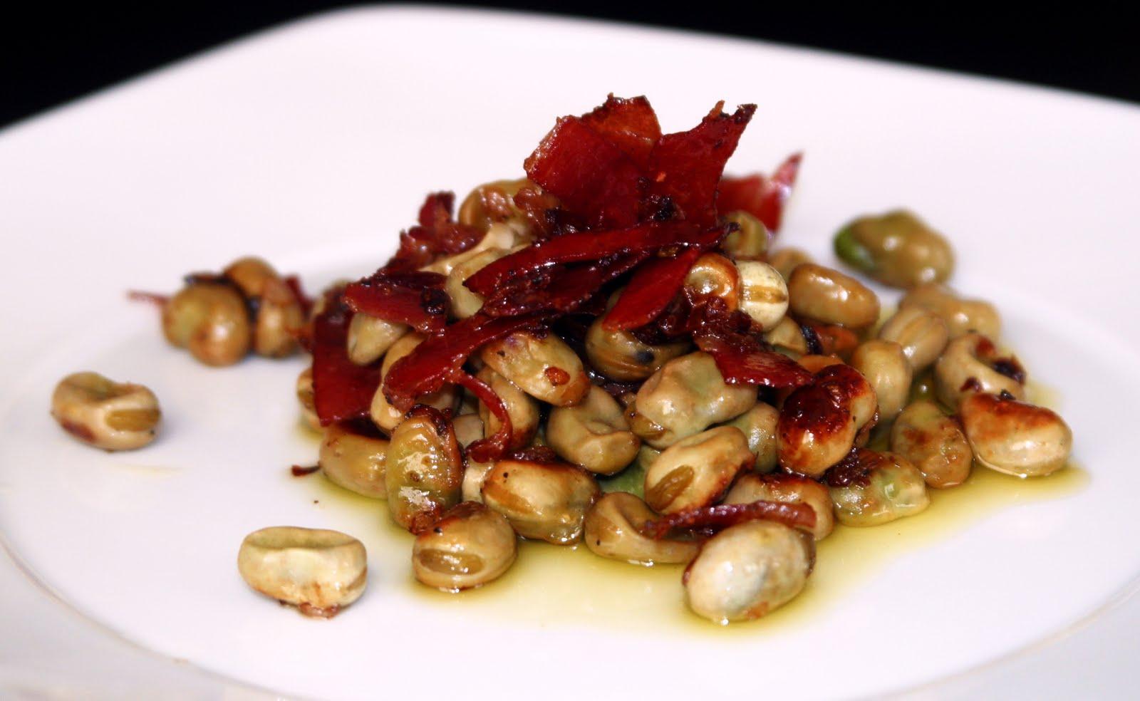 Caroline s creative food habas con jamon - Habas tiernas con jamon ...