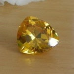 Cubic zirconia champagne trillion cut stones in aaa quality
