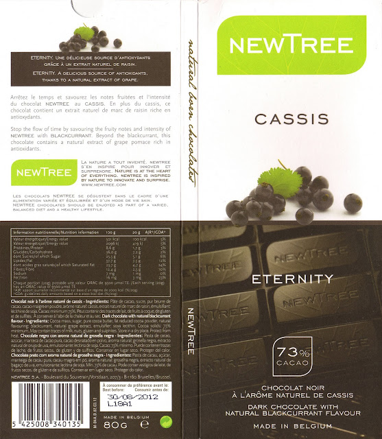 tablette de chocolat noir gourmand newtree cassis eternity noir 73