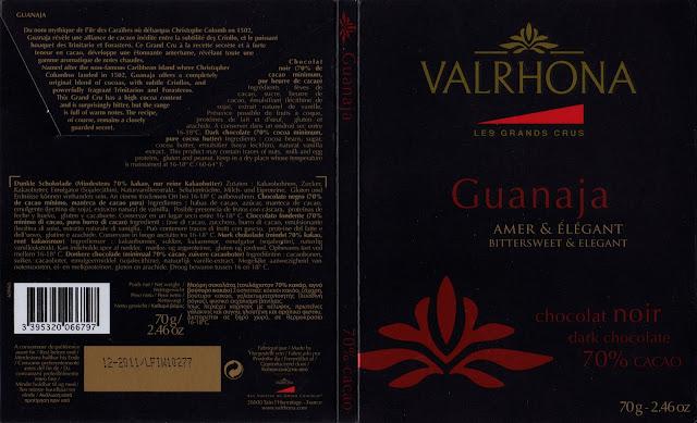 tablette de chocolat noir dégustation valrhona les grands crus guanaja 70