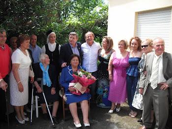 100 Cumpleanos de Palmira Muñiz, veciña da parroquia de Paramos.