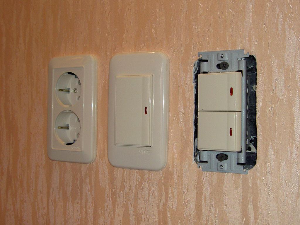 Установка розеток и выключателей своими руками фото