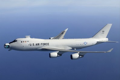 The Airborne Laser aircraft, a new futuristic defensive (?) weapon used to shoot down enemy missiles