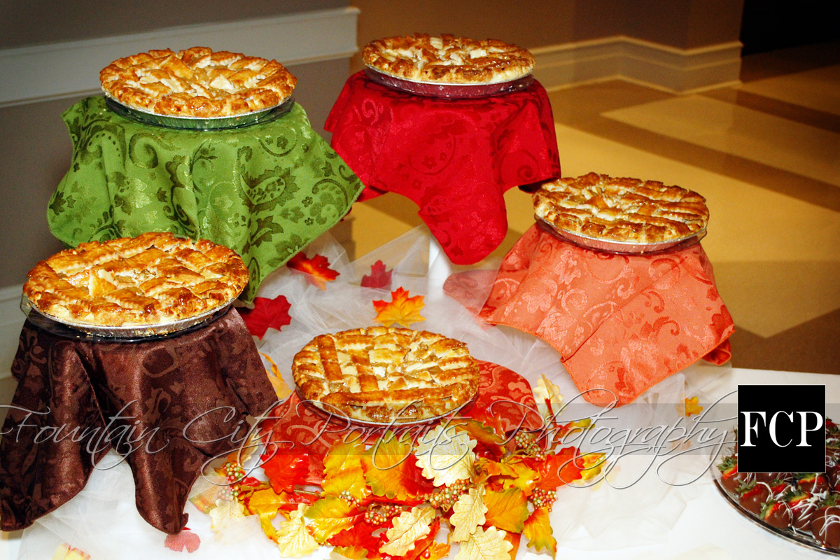 ... cakes were authentic, old-fashioned, lattice-topped apple pies
