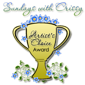 Winners of the Artist's Choice Award may post this trophy on their blog!