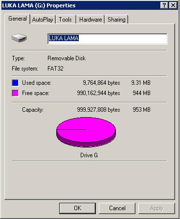 Cara Menambah Kapasitas Flash Disk 1GB Menjadi 2GB