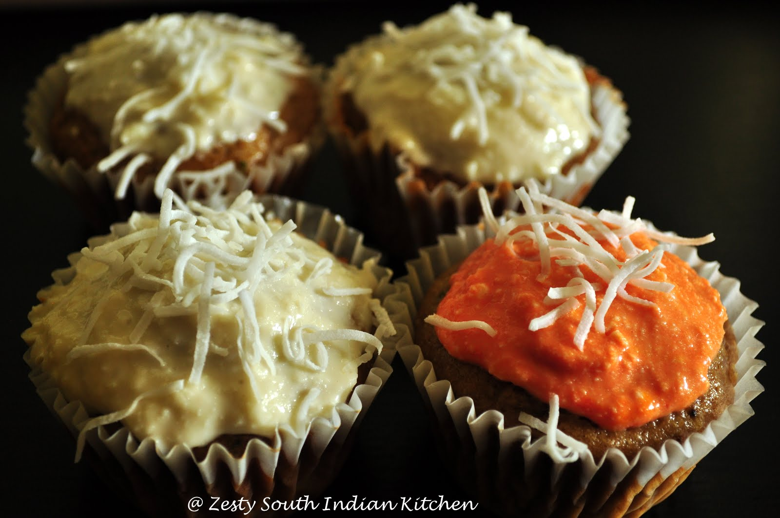 Zucchini Pineapple Ginger Cup Cake with Maple Cream Cheese ...