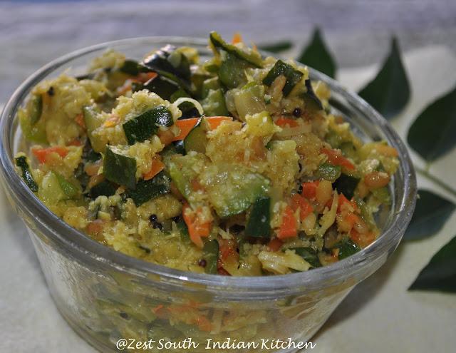 Zucchini Carrot Thoran/ Zucchini Carrot Stir Fry Wth Coconut - Zesty ...