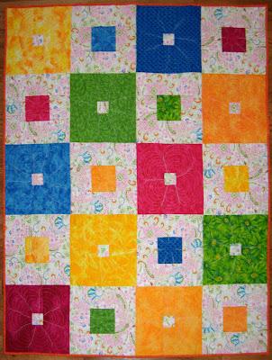 Garden Squares quilt, front