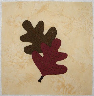 Greenpiece, applique block 4