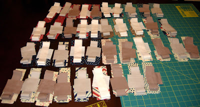 Paintbox Quilt Along fabrics all cut and ready to sew