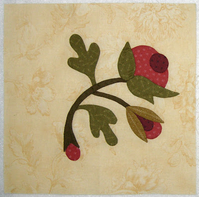 Greenpiece, applique block 8