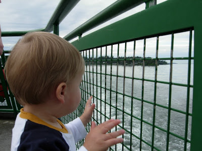 Boy on ferry