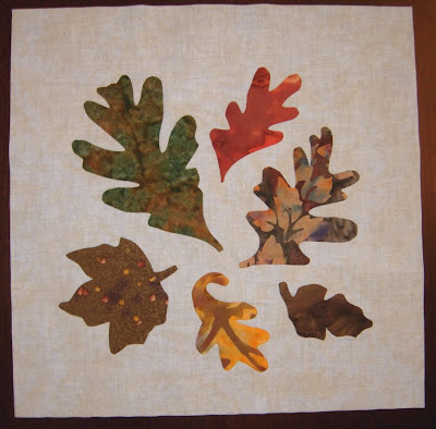 applique leaf block