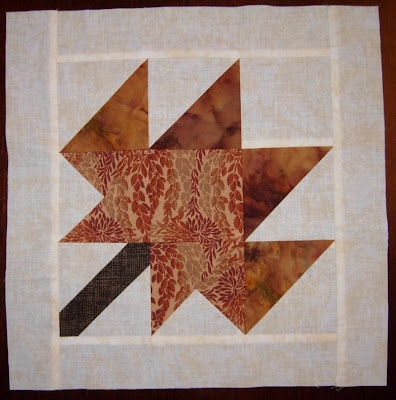 pieced leaf block