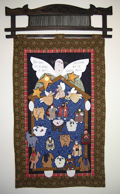 Glad Tidings quilt front
