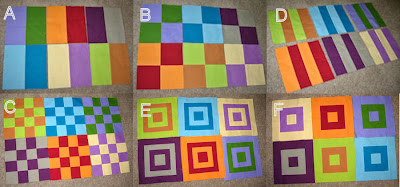 completed Mod Sampler Quilt blocks